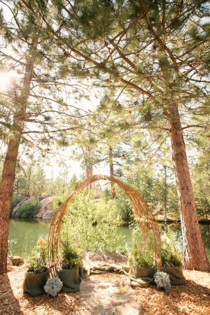 Lakeside Wedding Ceremony Arch