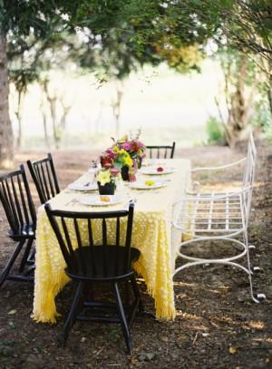 Late Summer Yellow Garden Tabletop