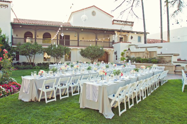 Lawn Reception with Long Tables