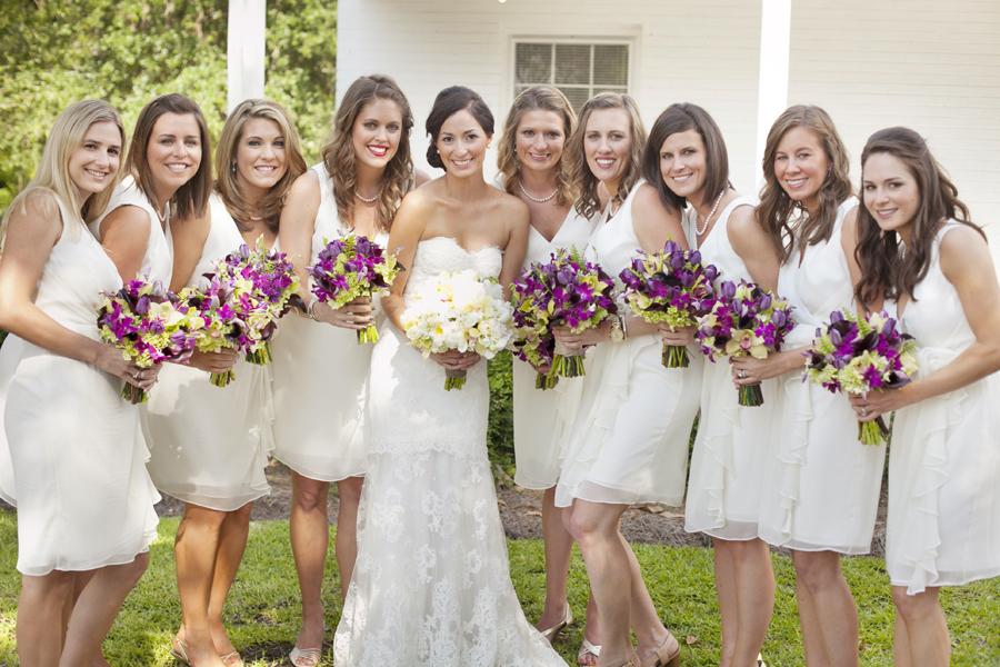 Roses In Garden: Cameron Art Museum Wedding From Millie Holloman