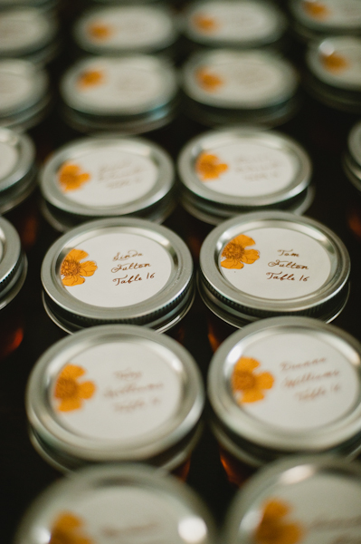 Mason Jar Honey Place Cards 1