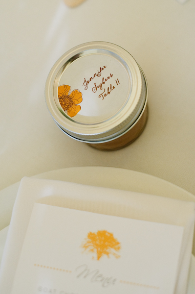 Mason Jar Honey Place Cards