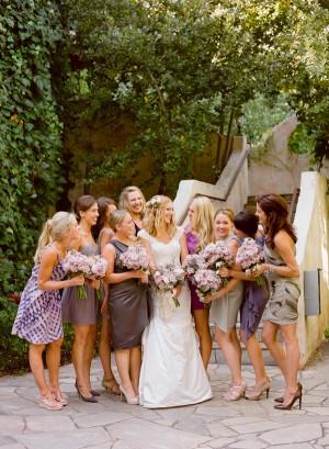 Mismatched Purple Bridemaids Dresses 1