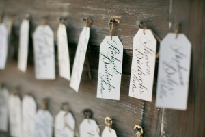 Modern Calligraphy Key Escort Cards