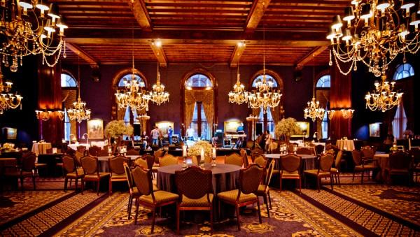 Navy Ballroom Wedding Reception