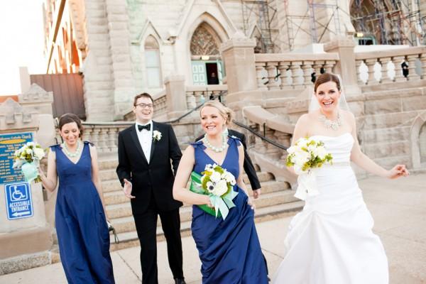 Navy Blue Bridal Party Attire
