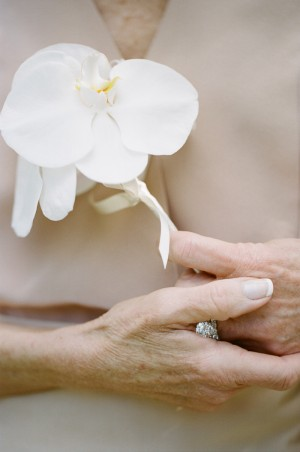 Orchid Mother of the Bride Pin
