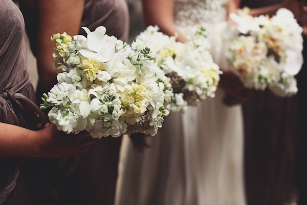Orchid and Gardenia Bouquets