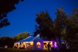 Outdoor Reception Tent With Lights