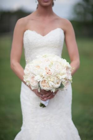Pale Peach Rose Bridal Bouquet