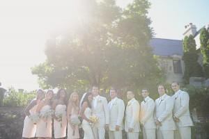 Pastel Colored Bridal Party Attire