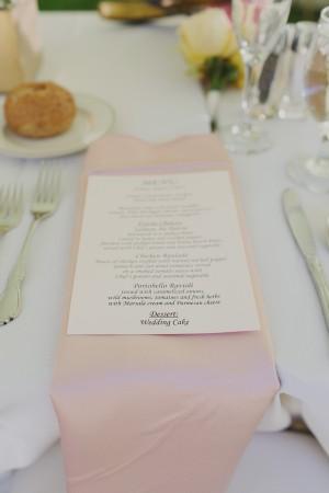 Pastel Pink Wedding Napkin