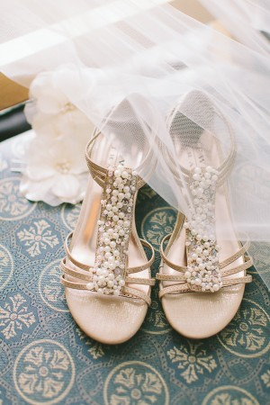 Pearl Encrusted Bridal Shoes