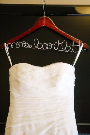 Personalized Wedding Gown Hanger