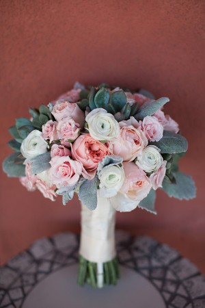 Pink Blush and Cream Rose Bouquet