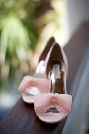 Pink Bridal Shoes With Bow