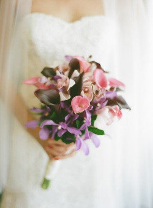 Pink Calla Lilly Bridal Bouquet