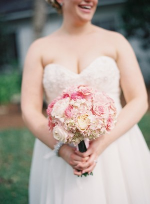 Pink and White Rose and Hydrangea Bouquet 1