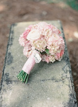 Pink and White Rose and Hydrangea Bouquet