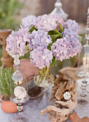 Purple Hydrangea Wedding Centerpiece