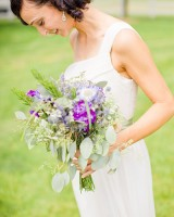 Purple and Green Bridal Bouquet