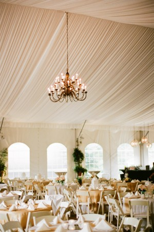 Reception Tent With Chandelier