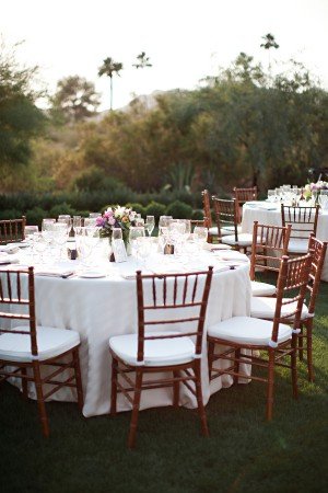 Round White Outdoor Reception Tables