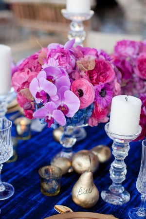 Royal Blue Fuchsia Wedding Flowers