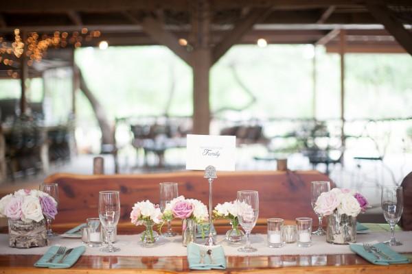 Rustic Barn Reception Table
