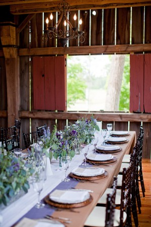 Rustic Barn Reception Table1
