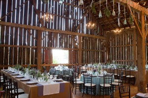 Rustic Barn Reception Tables