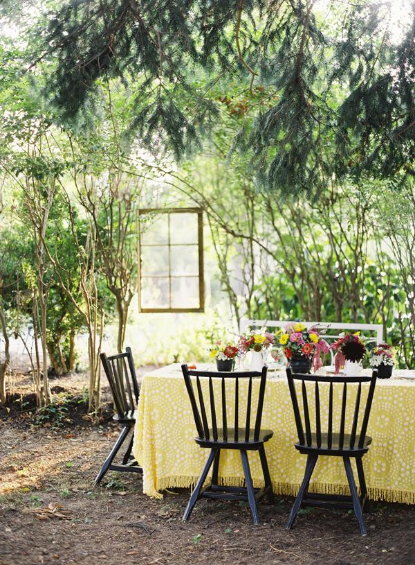 Rustic Elegant Outdoor Tabletop