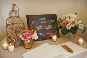 Rustic Vintage Guestbook Table