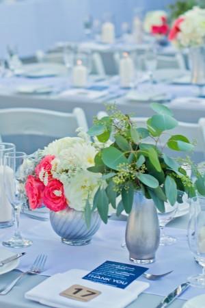 Salmon and Green Wedding Flowers