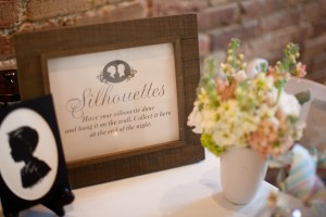 Silhouette Wedding Favors