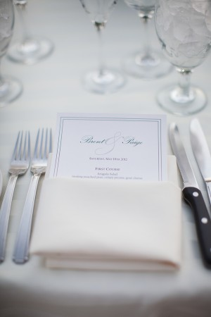 Simple Elegant Reception Menu Card