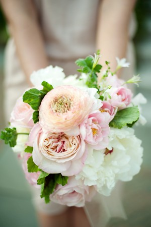 Soft Pink and White Bridesmaid Bouquet