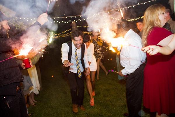 Sparkler Bride and Groom Exit