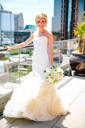 Strapless Wedding Gown With Full Flared Skirt