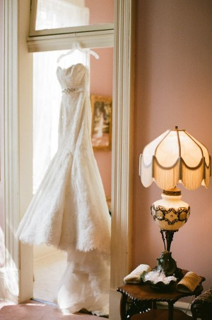 Strapless Wedding Gown With Jeweled Waist