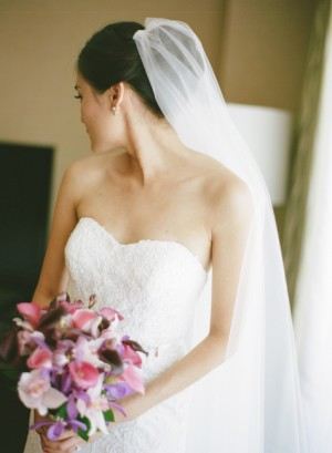 Strapless Wedding Gown With Lace Overlay 1