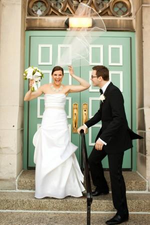 Strapless Wedding Gown With Rhinestone Waist Detail