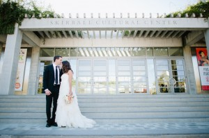 Strapless Wedding Gown With Ruffled Skirt 2