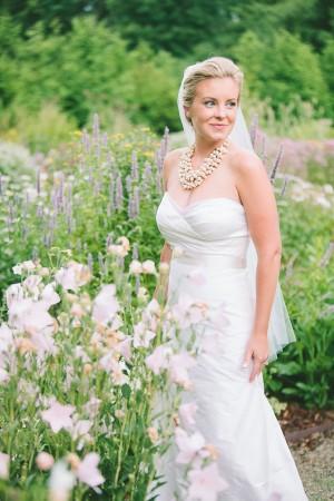 Strapless Wedding Gown With Satin Waist