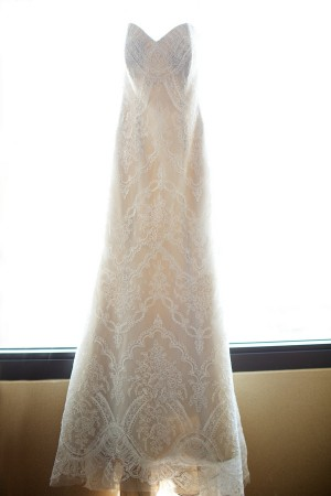 Strapless Wedding Gown With Scalloped Lace