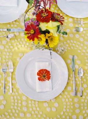 Sunny Yellow Orange Tabletop