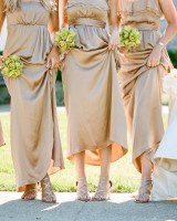 Taupe Flowing Bridesmaid Dresses