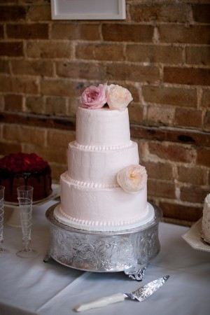 Three Tier Round Pink Wedding Cake