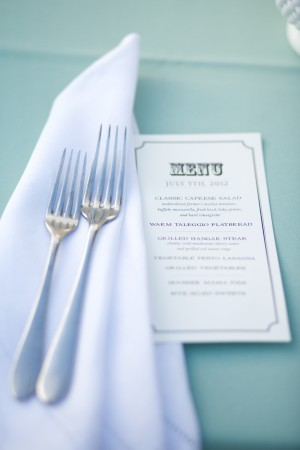 Vintage Menu Place Setting
