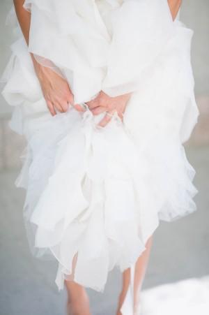 Wedding Gown Full Ruffle Skirt Detail